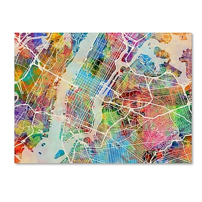 Trademark Fine Art ''New York City Street Map'' by Michael Tompsett 35