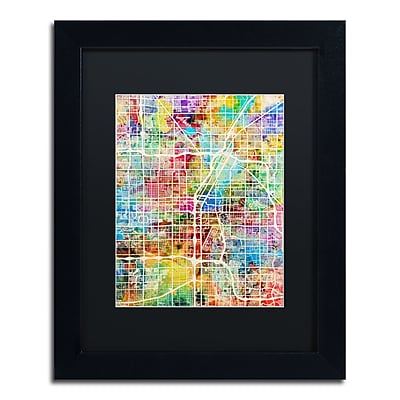 Trademark Fine Art ''Las Vegas City Street Map'' by Michael Tompsett 11