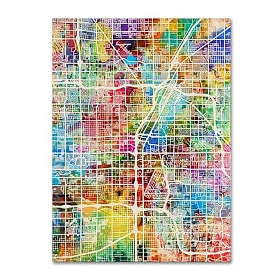 Trademark Fine Art ''Las Vegas City Street Map'' by Michael Tompsett 24