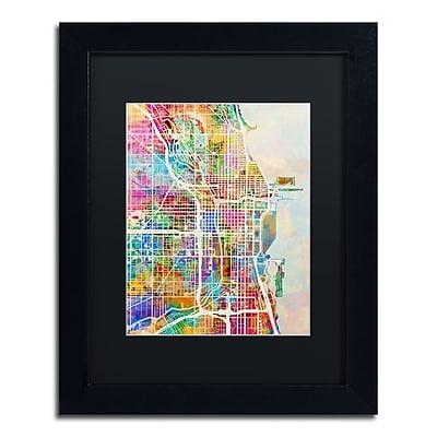 Trademark Fine Art ''Chicago City Street Map II'' by Michael Tompsett 11