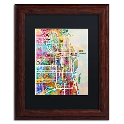 Trademark Fine Art ''Chicago City Street Map II'' by Michael Tompsett 11