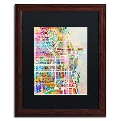 Trademark Fine Art ''Chicago City Street Map II'' by Michael Tompsett 16