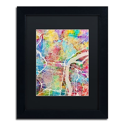 Trademark Fine Art ''Philadelphia Street Map'' by Michael Tompsett 11