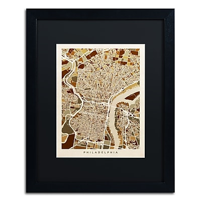 Trademark Fine Art ''Philadelphia Street Map II'' by Michael Tompsett 16
