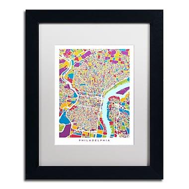 Trademark Fine Art ''Philadelphia Street Map III'' by Michael Tompsett 11