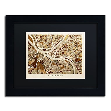Trademark Fine Art ''Pittsburgh Street Map'' by Michael Tompsett 11