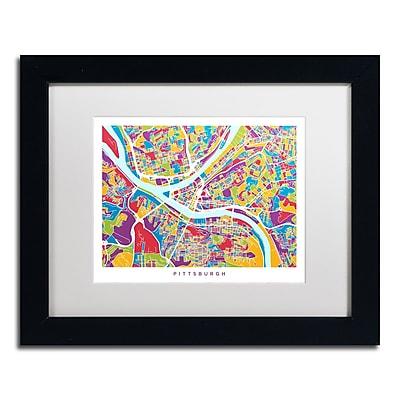 Trademark Fine Art ''Pittsburgh Street Map'' by Michael Tompsett 11