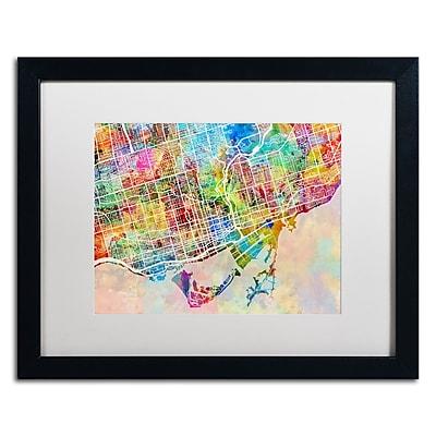 Trademark Fine Art ''Toronto Street Map'' by Michael Tompsett 16