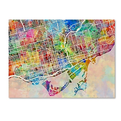 Trademark Fine Art ''Toronto Street Map'' by Michael Tompsett 14