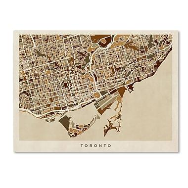 Trademark Fine Art ''Toronto Street Map'' by Michael Tompsett 14