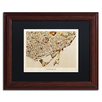Trademark Fine Art ''Toronto Street Map II'' by Michael Tompsett 11