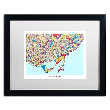 Trademark Fine Art ''Toronto Street Map III'' by Michael Tompsett 16
