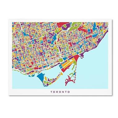 Trademark Fine Art ''Toronto Street Map'' by Michael Tompsett 24