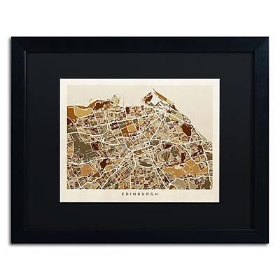 Trademark Fine Art ''Edinburgh Street Map II'' by Michael Tompsett 16
