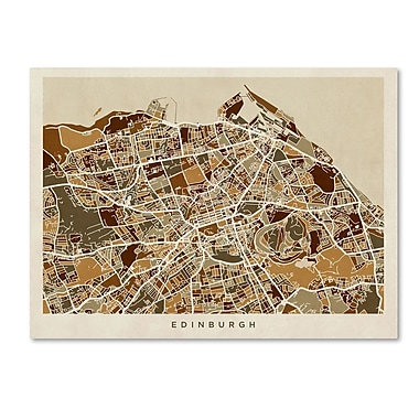 Trademark Fine Art ''Edinburgh Street Map'' by Michael Tompsett 14