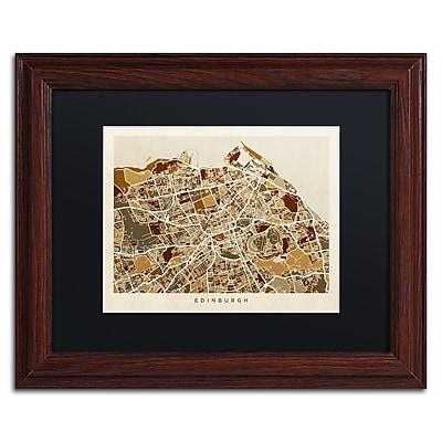 Trademark Fine Art ''Edinburgh Street Map II'' by Michael Tompsett 11