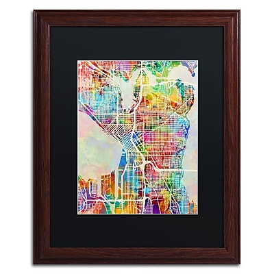 Trademark Fine Art ''Seattle Washington Street Map'' by Michael Tompsett 16