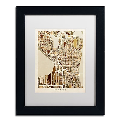 Trademark Fine Art ''Seattle Washington Street Map II'' by Michael Tompsett 11