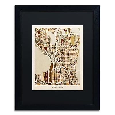 Trademark Fine Art ''Seattle Washington Street Map II'' by Michael Tompsett 16