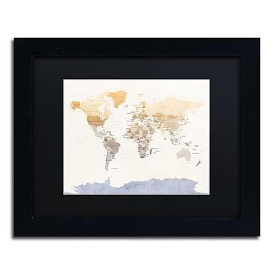 Trademark Fine Art ''Political Map of the World'' by Michael Tompsett 11