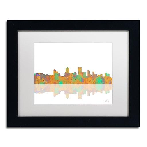 "Trademark Fine Art ''Anchorage Alaska Skyline'' by Marlene Watson 11"" x 14"" Black Frame (MW0037-B1114MF)"