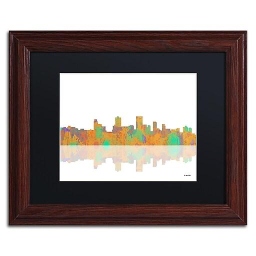"Trademark Fine Art ''Anchorage Alaska Skyline'' by Marlene Watson 11"" x 14"" Wood Frame (MW0037-W1114BMF)"