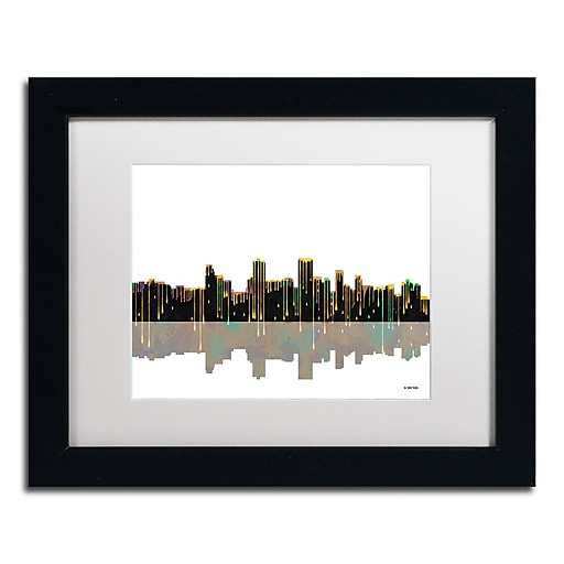 "Trademark Fine Art ''Anchorage Alaska Skyline'' by Marlene Watson 11"" x 14"" Black Frame (MW0038-B1114MF)"