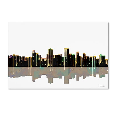 Trademark Fine Art ''Anchorage Alaska Skyline'' by Marlene Watson 12