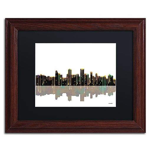 "Trademark Fine Art ''Anchorage Alaska Skyline'' by Marlene Watson 11"" x 14"" Wood Frame (MW0038-W1114BMF)"