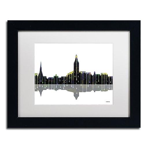 "Trademark Fine Art ''Annapolis Maryland Skyline'' by Marlene Watson 11"" x 14"" Black Frame (MW0039-B1114MF)"