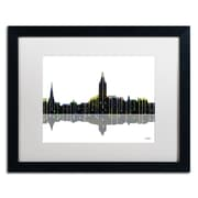 "Trademark Fine Art ''Annapolis Maryland Skyline'' by Marlene Watson 16"" x 20"" White Matted Black Frame (MW0039-B1620MF)"