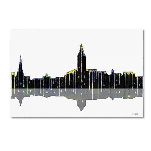 "Trademark Fine Art ''Annapolis Maryland Skyline'' by Marlene Watson 22"" x 32"" Canvas Art (MW0039-C2232GG)"