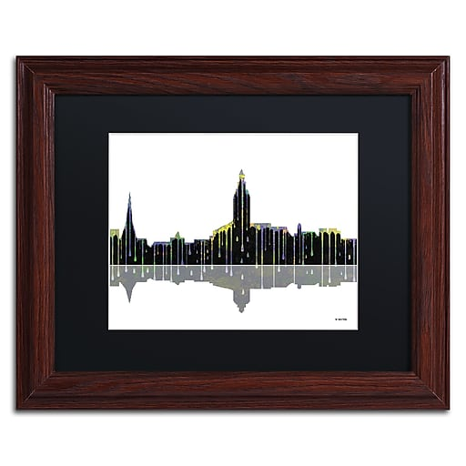 "Trademark Fine Art ''Annapolis Maryland Skyline'' by Marlene Watson 11"" x 14"" Wood Frame (MW0039-W1114BMF)"