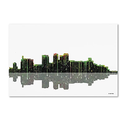 Trademark Fine Art ''Birmingham Alabama Skyline'' by Marlene Watson 16