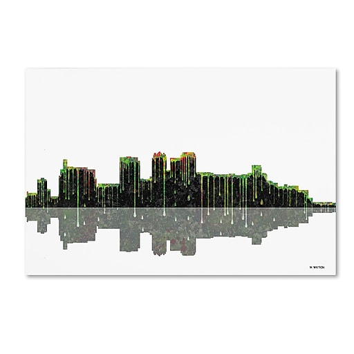 "Trademark Fine Art ''Birmingham Alabama Skyline'' by Marlene Watson 12"" x 19"" Canvas Art (MW0044-C1219GG)"