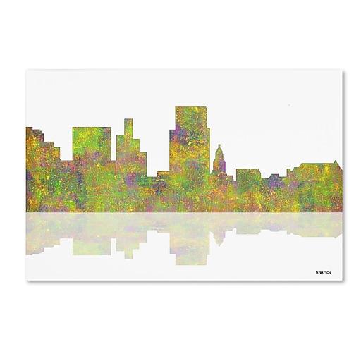 "Trademark Fine Art ''Boise Idaho Skyline'' by Marlene Watson 22"" x 32"" Canvas Art (MW0045-C2232GG)"