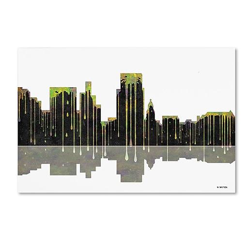 "Trademark Fine Art ''Boise Idaho Skyline'' by Marlene Watson 16"" x 24"" Canvas Art (MW0046-C1624GG)"