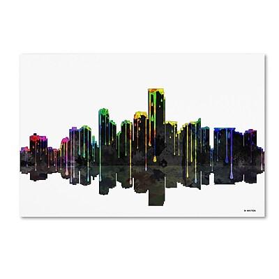 Trademark Fine Art ''Jersey City New Jersey Skyline'' by Marlene Watson 30