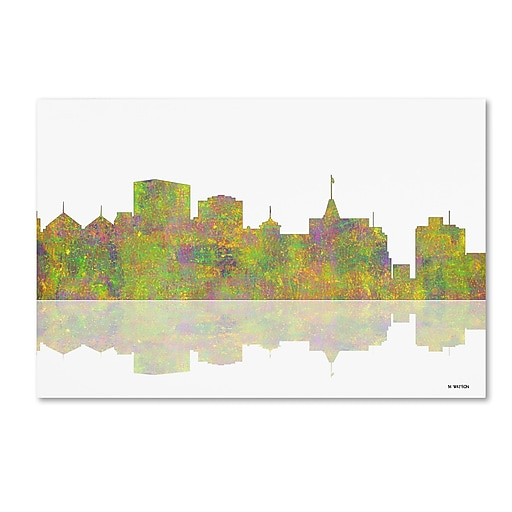 "Trademark Fine Art ''Oakland California Skyline'' by Marlene Watson 16"" x 24"" Canvas Art (MW0061-C1624GG)"