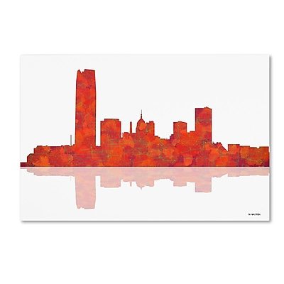 Trademark Fine Art ''Oklahoma City Oklahoma Skyline'' by Marlene Watson 12