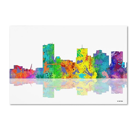 "Trademark Fine Art ''Phoenix Arizona Skyline'' by Marlene Watson 22"" x 32"" Canvas Art (MW0065-C2232GG)"
