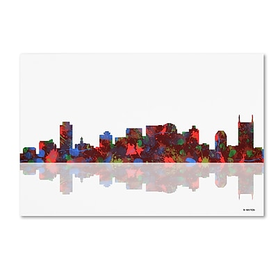 Trademark Fine Art ''Nashville Tennessee Skyline'' by Marlene Watson 12