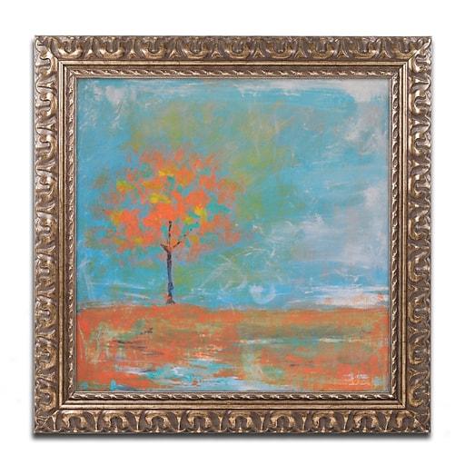 """Trademark Fine Art ''Autumn'' by Nicole Dietz 11"""" x 11"""" Ornate Frame (ND088-G1111F)"""