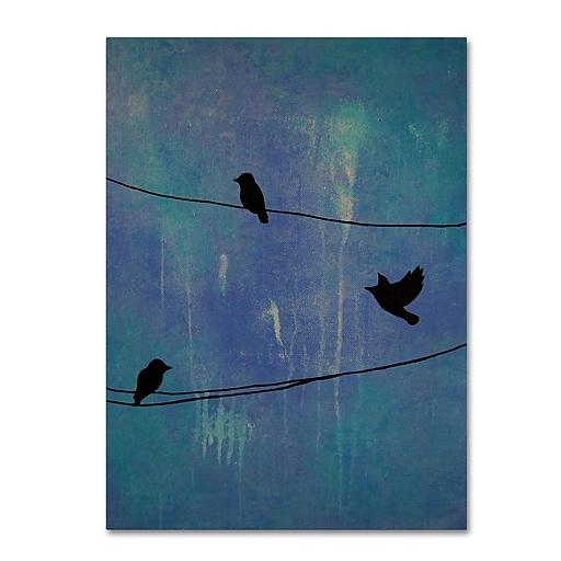 "Trademark Fine Art ''Birds Arrival'' by Nicole Dietz 14"" x 19"" Canvas Art (ND089-C1419GG)"