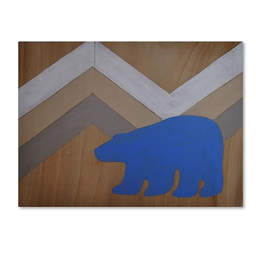 "Trademark Fine Art ''Blue Polar Bear'' by Nicole Dietz 18"" x 24"" Canvas Art (ND091-C1824GG)"