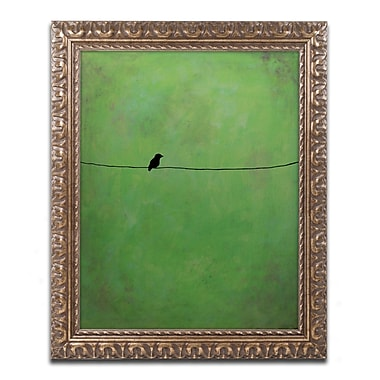 Trademark Fine Art ''Lone Bird Green'' by Nicole Dietz 16