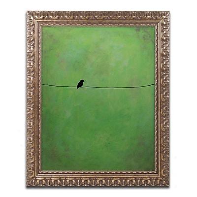 Trademark Fine Art ''Lone Bird Green'' by Nicole Dietz 16