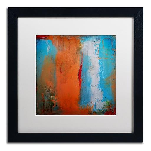 """Trademark Fine Art ''Orange Swatch'' by Nicole Dietz 16"""" x 16"""" White Matted Black Frame (ND097-B1616MF)"""
