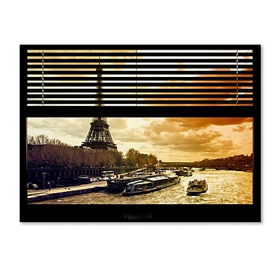 Trademark Fine Art ''Window View Paris at Sunset 1'' by Philippe Hugonnard 24