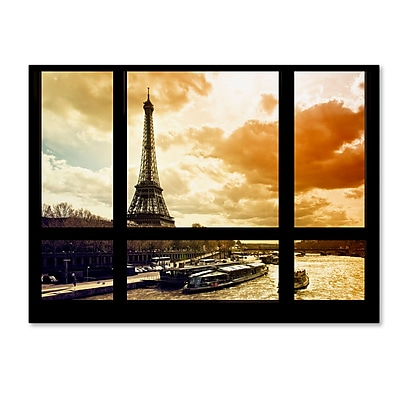 Trademark Fine Art ''Window View Paris at Sunset 2'' by Philippe Hugonnard 35